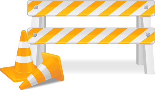 Traffic Cones and barrier